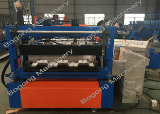 Steel Roof Floor Deck Roll Forming Machine Hydraulic Cutting PLC Control System